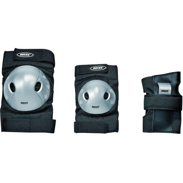 Ochraniacze na łyżworolki Roces Extra Three Pack JR czarne 301377